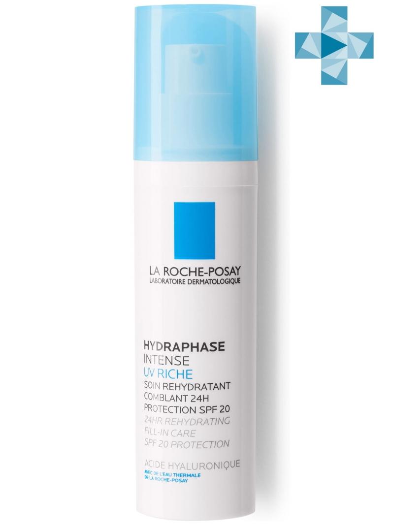 La Roche-Posay Гидрафаз UV Интенс Риш увлажняющий флюид для лица 50 мл (La Roche-Posay, Hydraphase) la roche posay флюид тон 10 слоновая кость рено толеран 30 мл