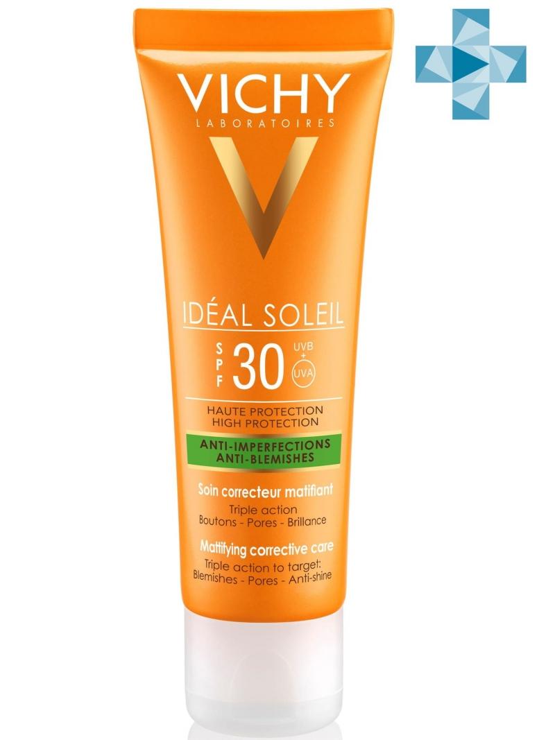 Vichy Уход против несовершенств SPF 30, 50 мл (Vichy, Capital Ideal Soleil) vichy спрей двухфазный увлажняющий spf 30 200 мл vichy capital ideal soleil