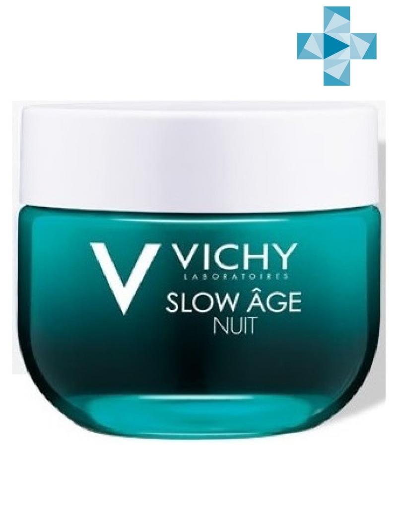 Vichy Слоу Аж Ночной крем и маска 50 мл (Vichy, Slow Age) виши слоу аж