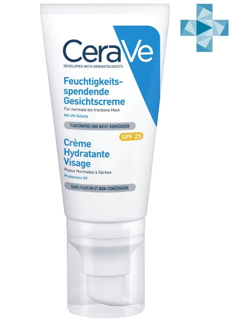 Купить CeraVe Увлажняющий лосьон для нормальной и сухой кожи лица SPF25, 52 мл (CeraVe, Увлажнение кожи), Франция