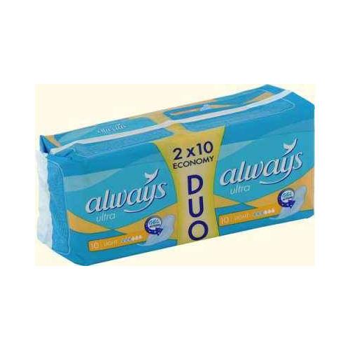 Прокладки Ультра лайт дуо в упаковке 20 шт (Always, Ultra) прокладки ультра супер дуо 16 шт always ultra