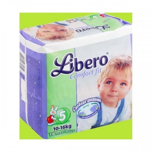 Libero Подгузники  Комфорт макси плюс 10-16 кг мал. пачка (5) 18шт (Подгузники Комфорт)