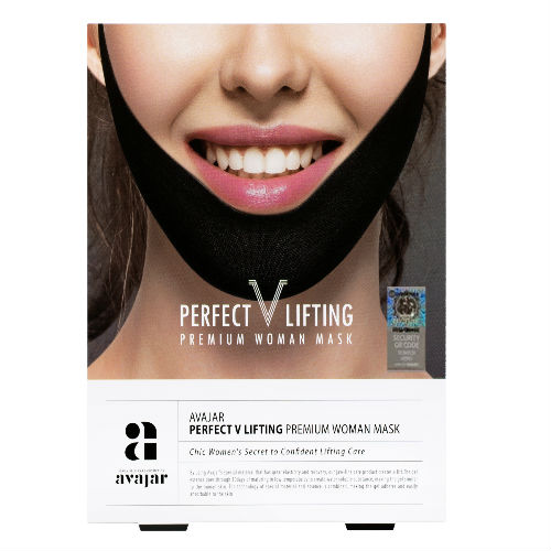 Avajar AVAJAR perfect V lifting premium woman black mask -