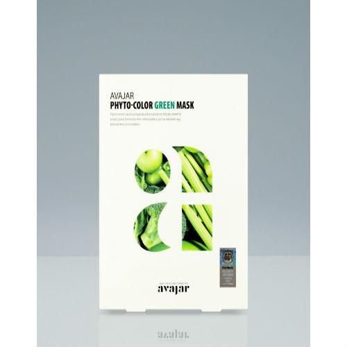 Avajar Avajar Phyto-Color Green Mask Успокаивающая и увлажняющая маска 10 шт (Avajar, Для лица)