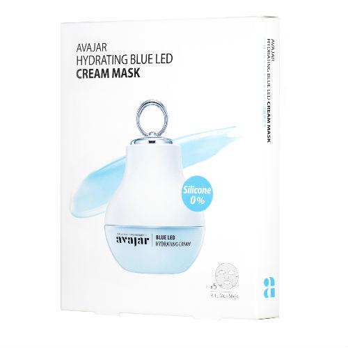 Avajar Avajar Hydrating Blue Led Cream Mask Увлажняющая кремовая LED маска 5 шт (Avajar, Для лица)