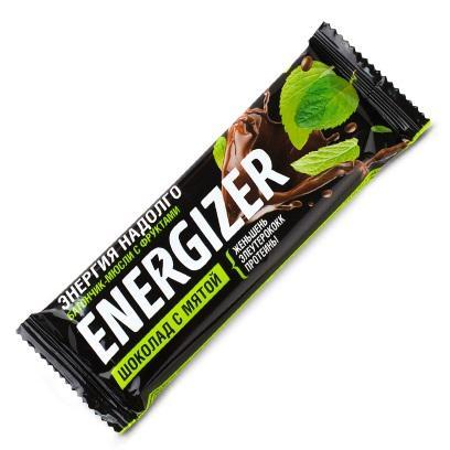 Батончикмюсли с фруктами Шоколад с мятой. Упаковка 40 г (Худеем за неделю, ENERGIZER) экстракт зеленого кофе для похудения упаковка 60 таблеток худеем за неделю биослимика