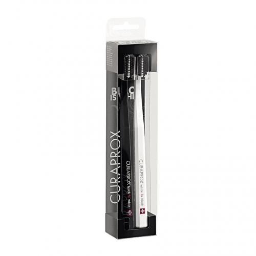 Купить Curaprox Набор : зубная щетка ultrasoft белая и черная 2 шт (Curaprox, Мануальные зубные щетки), Швейцария