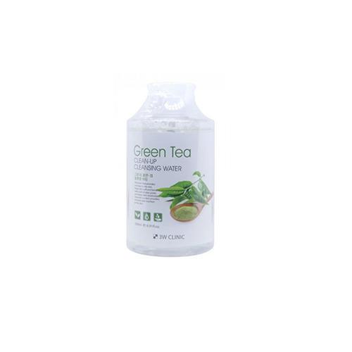 3W Clinic Очищающая вода с экстрактом зеленого чая, 500 мл (3W Clinic, Для лица)