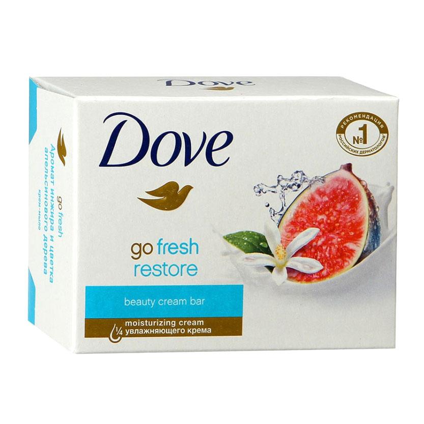 DOVE Крем-мыло твердое инжир и лепестки апельсина 135 гр (DOVE, Средства для ванны и душа)