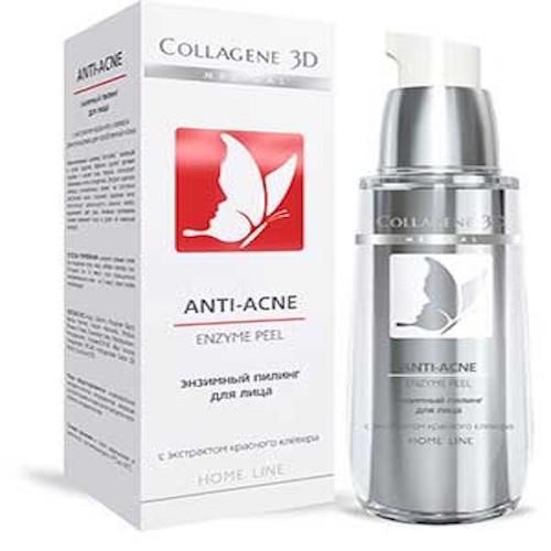 Collagene 3D Гель-пилинг для лица энзимный для проблемной кожи 30 мл (Peeling)
