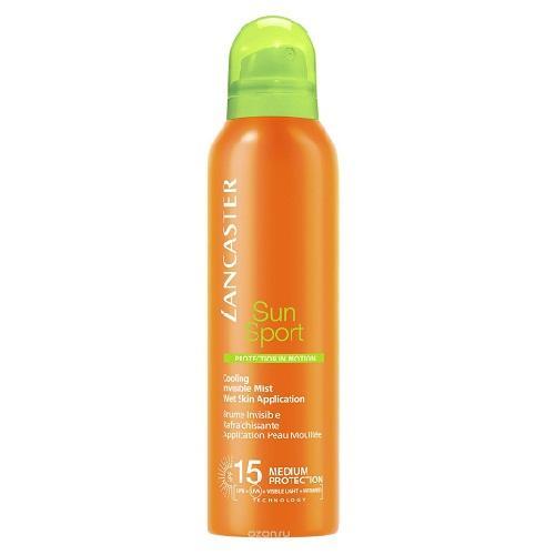 купить Солнцезащитный спрей с возможным нанесением на влажную кожу для идеального загара SPF 15, 200 мл (Lancaster, Sun Sport) онлайн