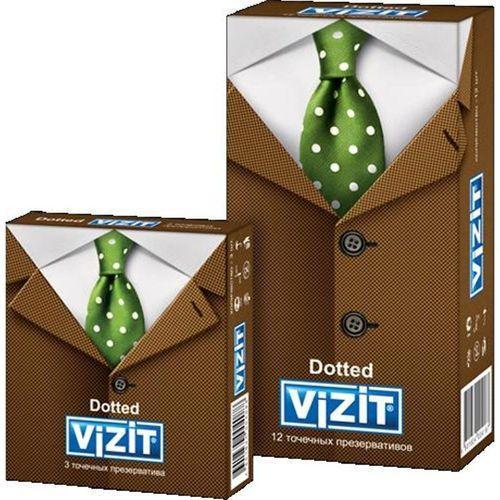 Vizit Презервативы Точечные 3 шт (Vizit, Visit презервативы) недорого