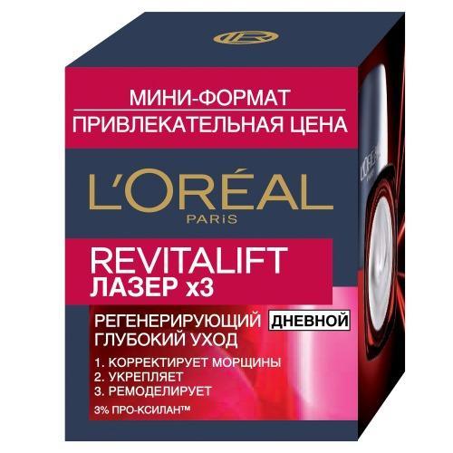REVITALIFT Антивозрастной крем х3 лица дневной миниформат 15мл (LOreal, Revitalift)