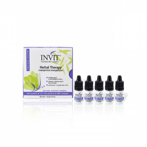 Купить Invit Сыворотка-концентрат Herbal Therapy 3 мл х 10 шт (Invit, Для лица)