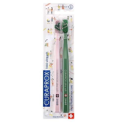 Curaprox Набор ультрамягких зубных щеток ultrasoft Duo Love-20 2 шт (Curaprox, Мануальные зубные щетки) щетки curaprox купить в москве