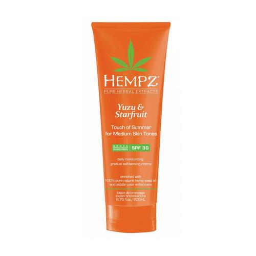 Молочко солнцезащитное для тела кожи темного оттенка SPF 30 200 мл (Hempz, Юдзу и карамбола) маслоспрей солнцезащитное увлажняющее для тела spf 30 200 мл hempz юдзу и карамбола
