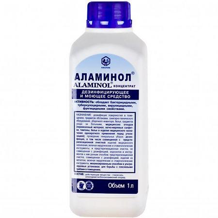 Дезинфицирующие средства Аламинол антибактериальное дезинфицирующее средство (для предметов) 1000 мл (Дезинфицирующие средства, Для уборки)
