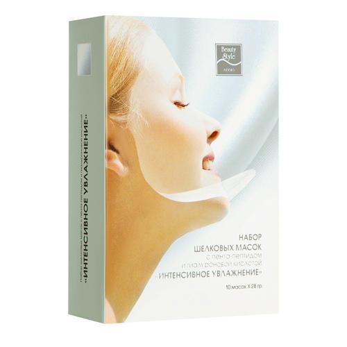 Beauty Style Шелковая маска с пента-пептидом и гиалуроновой кислотой 10 шт х 28 гр (Шелковые маски)