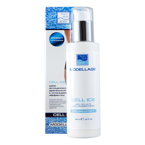 Beauty Style Крем антицеллюлитный дренажный с охлажд. эффектом Cell Ice  200 мл (Modellage)