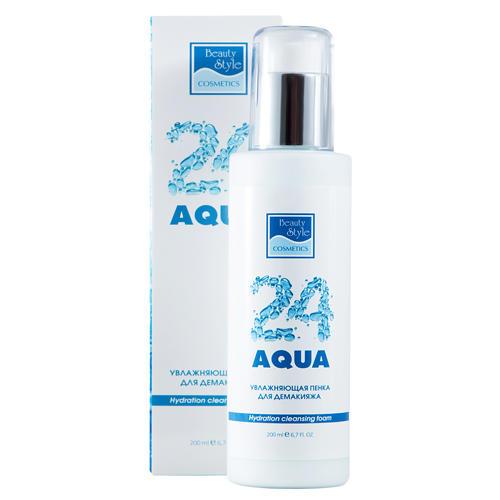 Увлажняющая пенка для демакияжа Аква 24, 200 мл (Beauty Style, Aqua 24) увлажняющая пенка для демакияжа аква 24 beauty style
