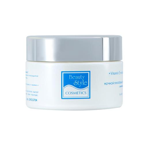 Beauty Style Ночной питательный увлажняющий крем с витамином Е, Аква 24 50 мл (Aqua 24)