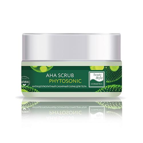 Антицеллюлитный сахарный скраб для тела AHA Scrub Phytosoniс, 200 мл (Beauty Style, Phytosonic Антицеллюлит) beauty style кислородонасыщающий сахарный скраб alga scrub artichoke 200мл