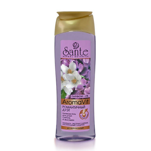 Парфюм-гель для душа Сирень и жасмин 250 мл (Aromavit) (Sante)