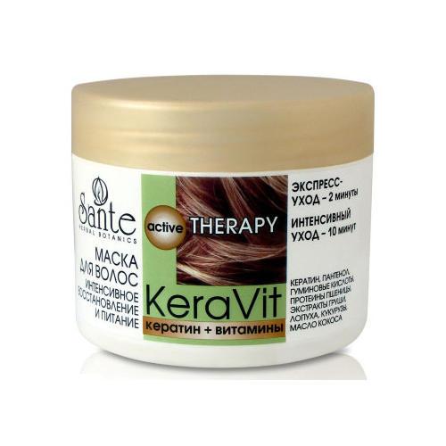 Маска для волос интенсивного восстановления и питания Keravit 300 мл (Санте, Средства для волос)