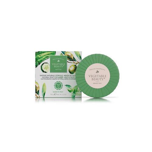 Купить Vegetable Beauty Натуральное мыло Огурец, мята и олива 100 г (Vegetable Beauty, Мыло), Италия