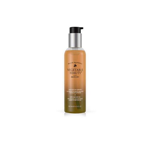 Купить Vegetable beauty Сатиновое масло для душа с органическим экстрактом сицилийского апельсина и комплексом драгоценных масел 200 мл (Vegetable beauty, Для тела), Италия