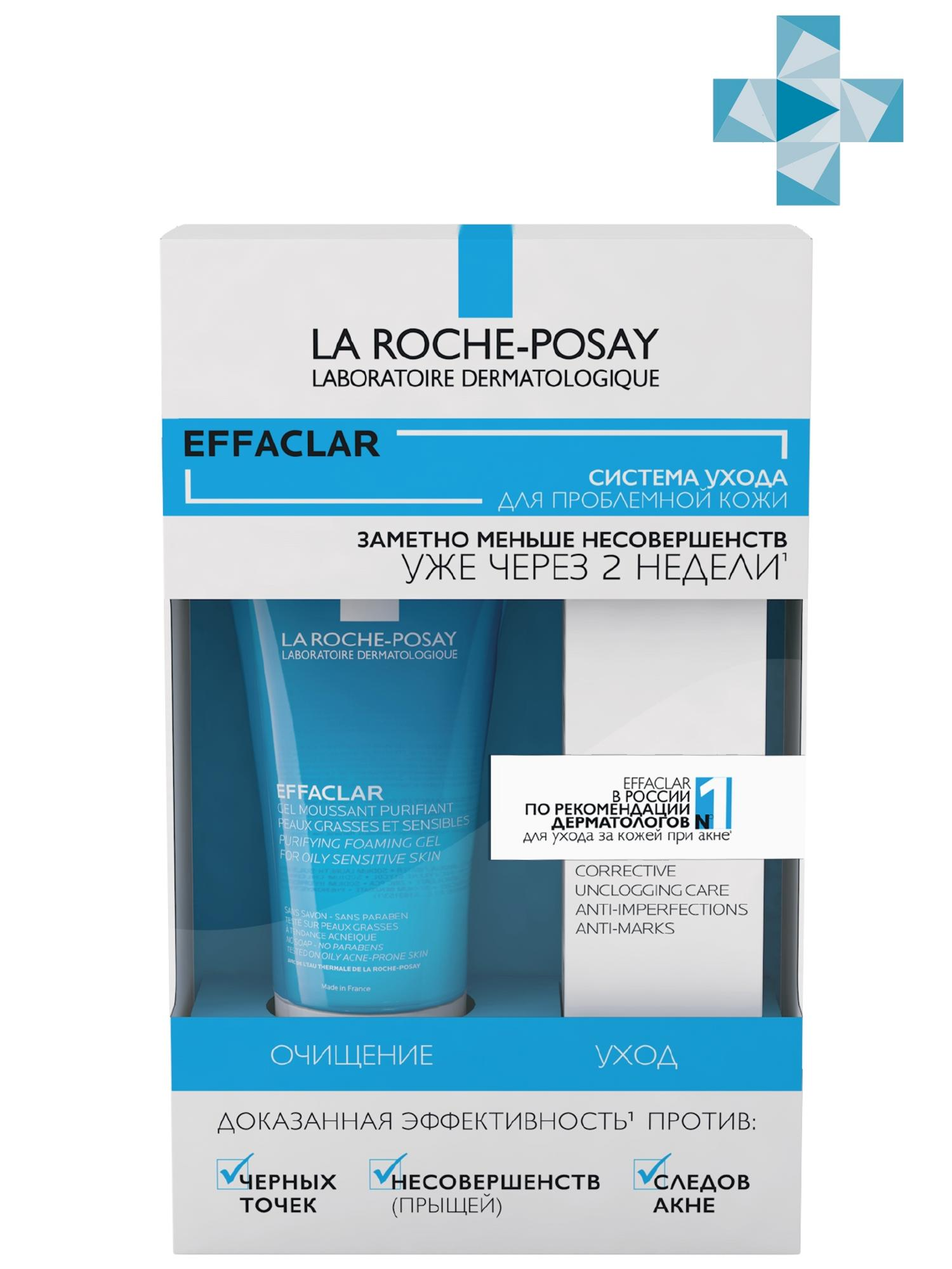 La Roche-Posay Набор Эфаклар гель 50 мл + Эфаклар Дуо(+) 15 мл (La Roche-Posay, Effaclar) недорого