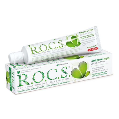 Купить R.O.C.S. Зубная паста Энергия утра 74 гр (R.O.C.S., Для Взрослых), Россия