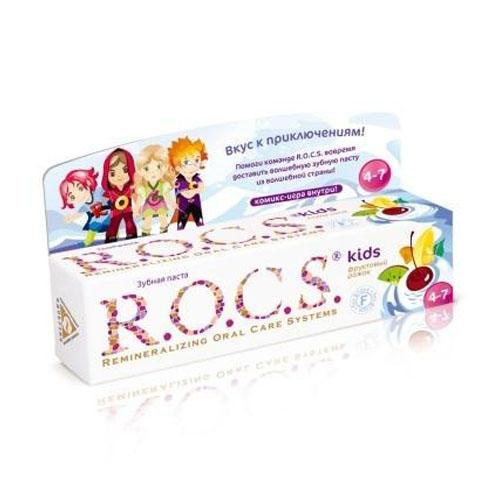 R.O.C.S Зубная паста Рокс Для детей Фруктовый рожок (Kids 3-7 years)