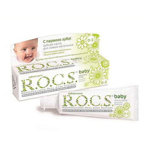 Зубная паста Рокс Для самых маленьких Душистая ромашка. (Bebe 0-3 years) (R.O.C.S)