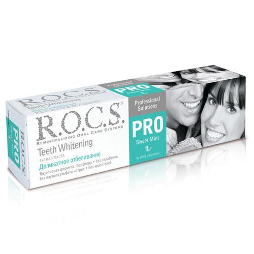 Зубная паста PRO Деликатное отбеливание Сладкая мята 135 гр (R.O.C.S. PRO)