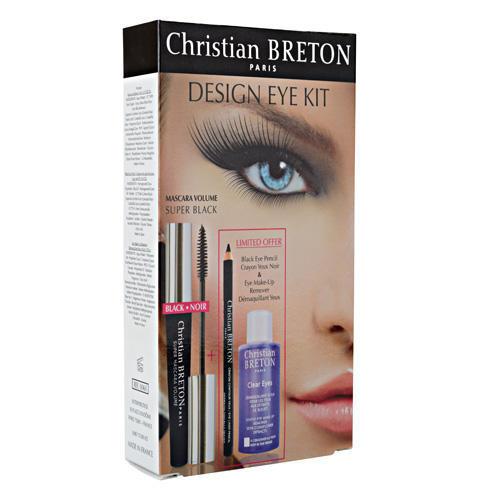 Christian Breton Paris Набор Средство для удаления макияжа с глаз, тушь для увеличения объема ресниц, черный карандаш для (Lashes)