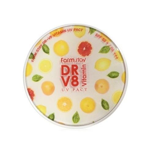 Компактная пудра с витаминами SPF 50PA, 212 г (Farmstay, Для макияжа) пудра компактная разглаживающая spf 50pa с запасным блоком 21 10 мл eunyul для макияжа