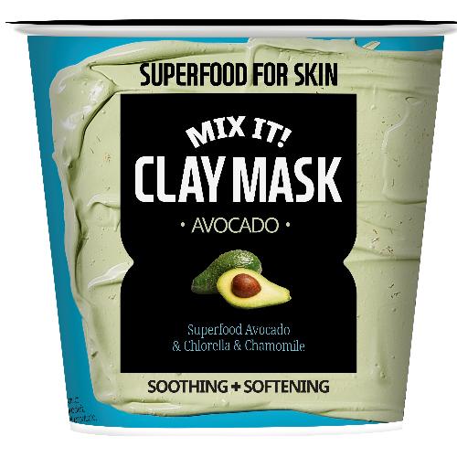 Superfood Salad for Skin Маска глиняная успокаивающая и смягчающая маска с экстрактом авокадо (Superfood Salad for Skin, Глиняные маски)