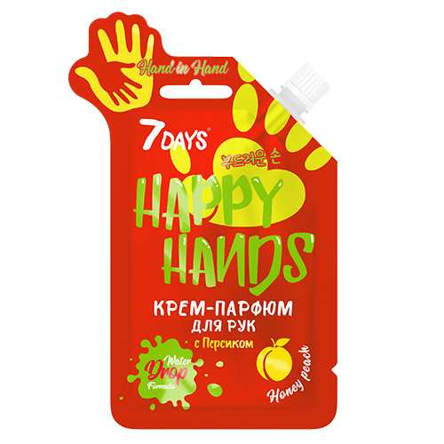 7 Days Крем-парфюм для рук HAND IN с Персиком, 25 гр (7 Days, HAPPY HANDS)