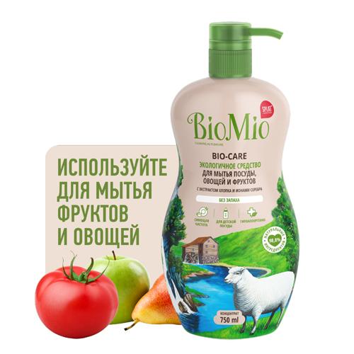 BioMio Средство для мытья посуды (в том числе детской) Концентрат без запаха 750 мл (BioMio, Посуда)