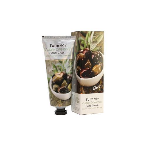 Крем для рук с экстрактом оливы 100 мл (Farmstay, Для рук) крем для сухой кожи рук календула и масло смородины green mama 100 мл