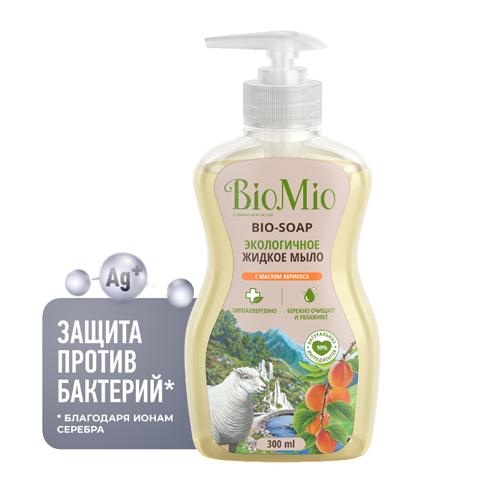 BioMio Жидкое мыло с маслом абрикоса смягчающее 300 мл (BioMio, Мыло)
