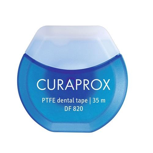 Curaprox Нить межзубная тефлоновая с хлоргексидином 35м 1 шт (Curaprox, Зубные нити) president нить межзубная вощеная со фтором и вкусом мяты 15 м president зубные нити