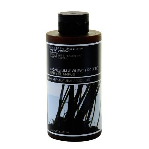 Тонизирующий и укрепляющий шампунь с магнием и протеинами 250 мл (Korres Для мужчин)