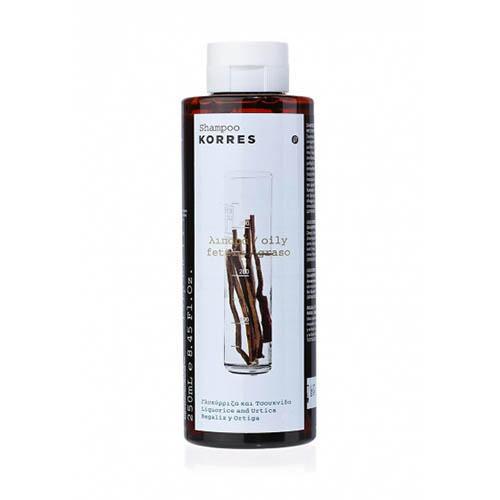 Купить Korres Шампунь для жирных волос с лакрицей и крапивой, 250 мл (Korres, Korres Уход за волосами), Греция