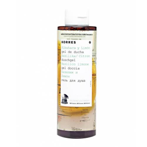 Гель для душа Базилик и лимон, 250 мл (Korres, Korres Гели для душа) гель для душа korres shower gel mango