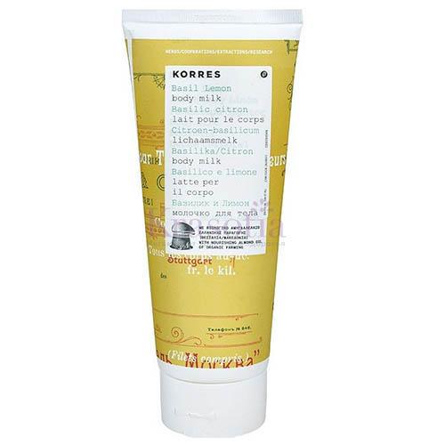 Молочко для тела Базилик и лимон, 200 мл (Korres, Korres Для тела) korres молочко для тела жасмин 200 мл