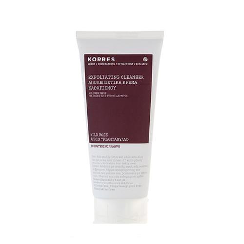 Нежный скраб с дикой розой для ежедневного очищения для всех типов кожи 150 мл (Korres Ежедневное Очищение)