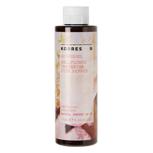 Гель для душа Колокольчик, мандарин, розовый перец 250 мл (Korres, Korres Гели для душа) гель для душа korres shower gel almond