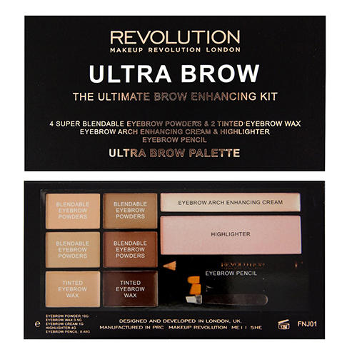 Палетка теней для бровей Ultra Brow Palette, Fair to Medium (Makeup Revolution, Брови) фильтр воздушный briggs and stratton 491588s